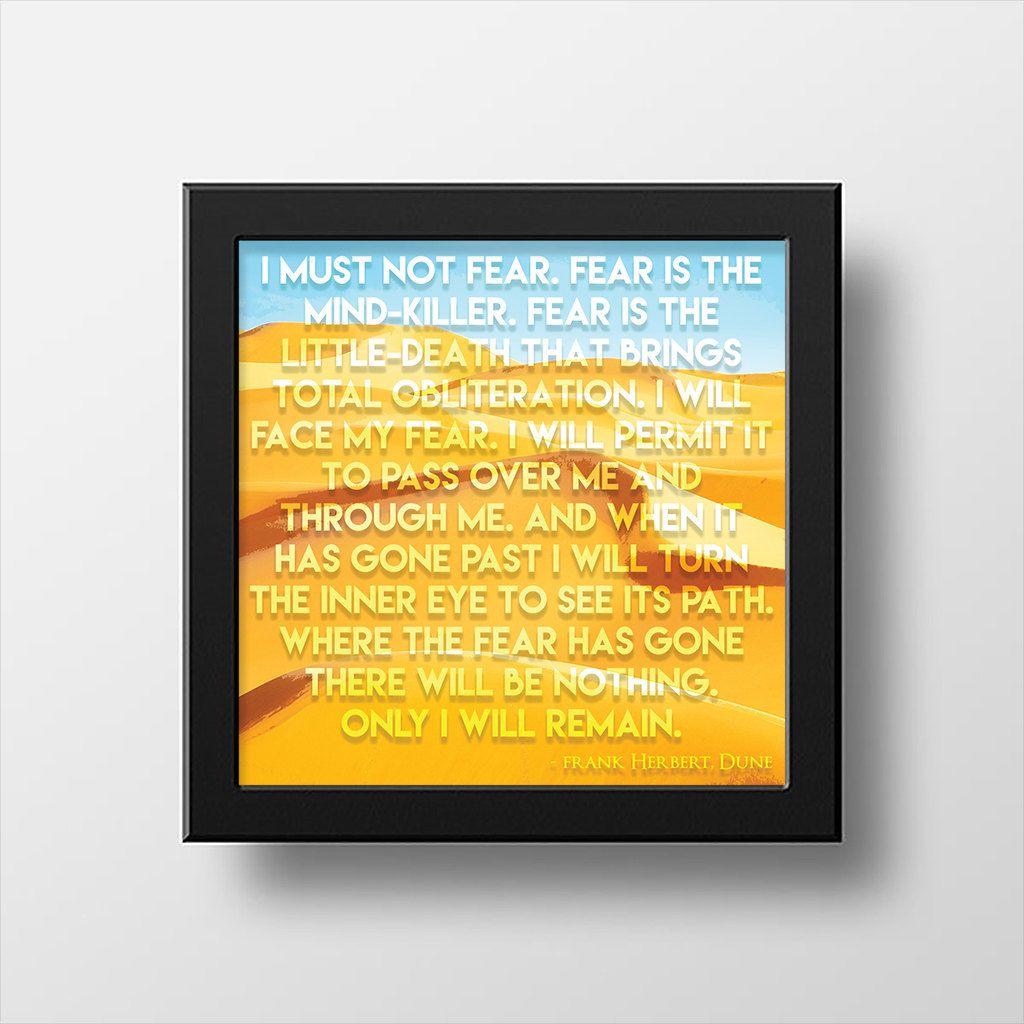 Frank Herbert Literary Wall Art Quote from Dune | Frank herbert ...