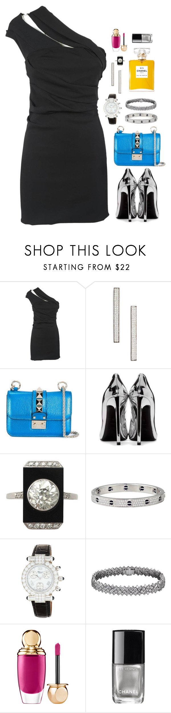 """""""sleek n Sheek"""" by sleeknsheek ❤ liked on Polyvore featuring Dsquared2, Freida Rothman, Valentino, Yves Saint Laurent, Cartier, Chopard, Sephora Collection and Chanel"""