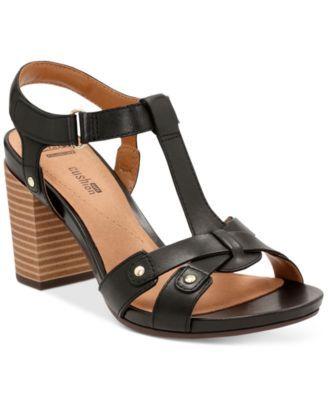 Women/'s Clarks Banoy Valtina Sandals Black Leather