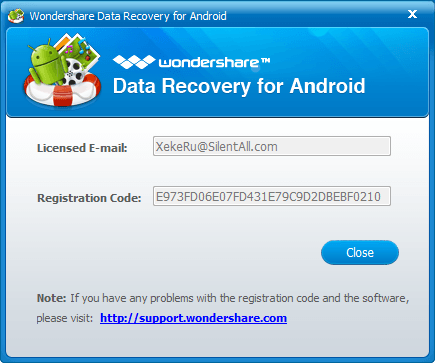 wondershare photo recovery registration code and email