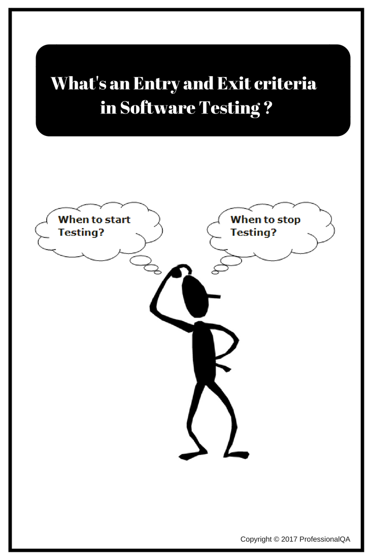 What are entry and exit criteria in Software Testing