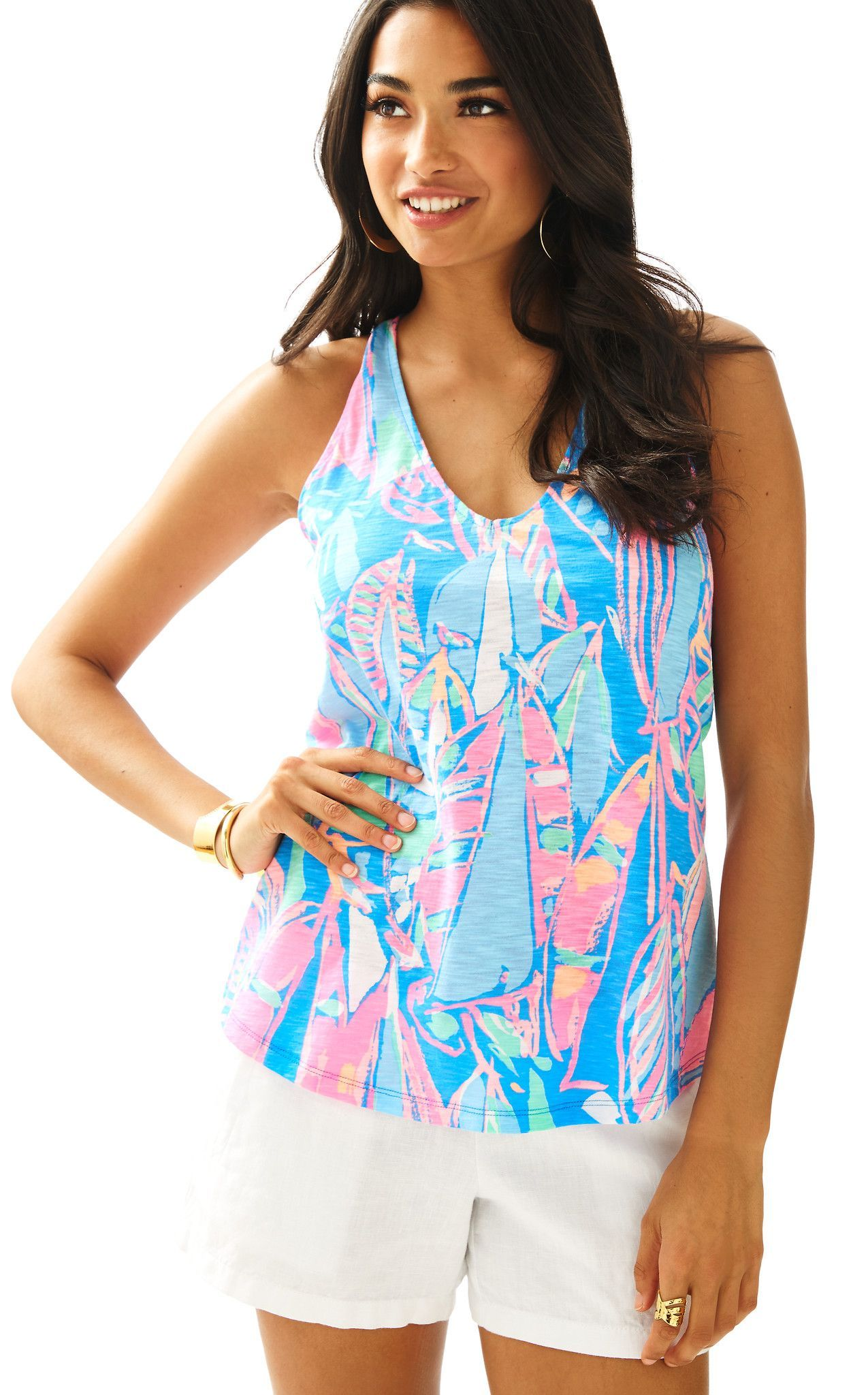 8a0f0075a56db6 lilly pulitzer bay blue out to sea minka top | My Lilly collection ...