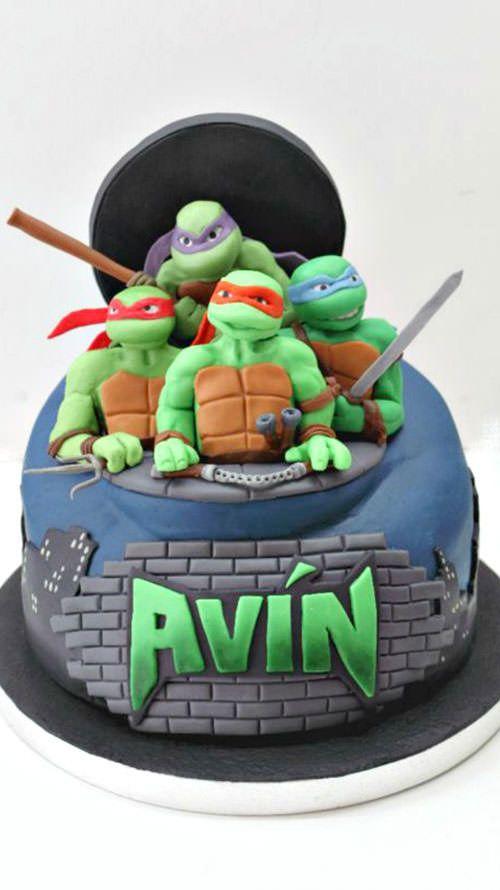 90 torte delle tartarughe ninja con decorazioni in pdz for Decorazioni torte trenino thomas