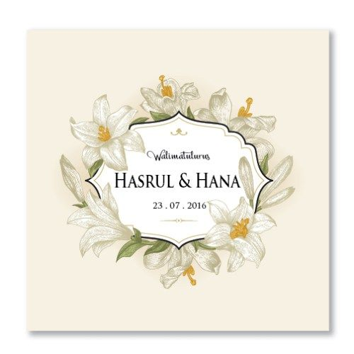 Kad Kahwin Floral 46 Chantiqs Kad Kahwin Kad Kahwin Wedding Invitations Diy Wedding Cards