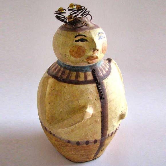"""""""Bodulé Junior"""" - escultura em cerâmica."""