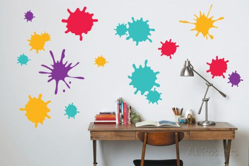 Paint Splatter Wall Decal Music Wall Decal Wall Decals Bright