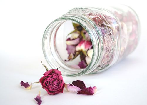 Putting Your Dead Rose Petals An Buds In A Jar Allows You To Keep
