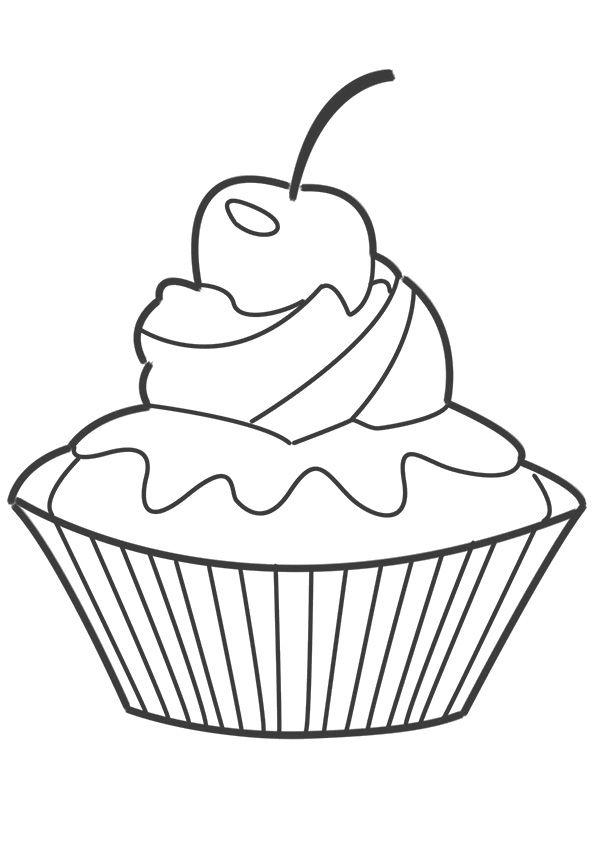 Click Share This Story On Facebook Candy Coloring Pages Cupcake Coloring Pages Birthday Coloring Pages
