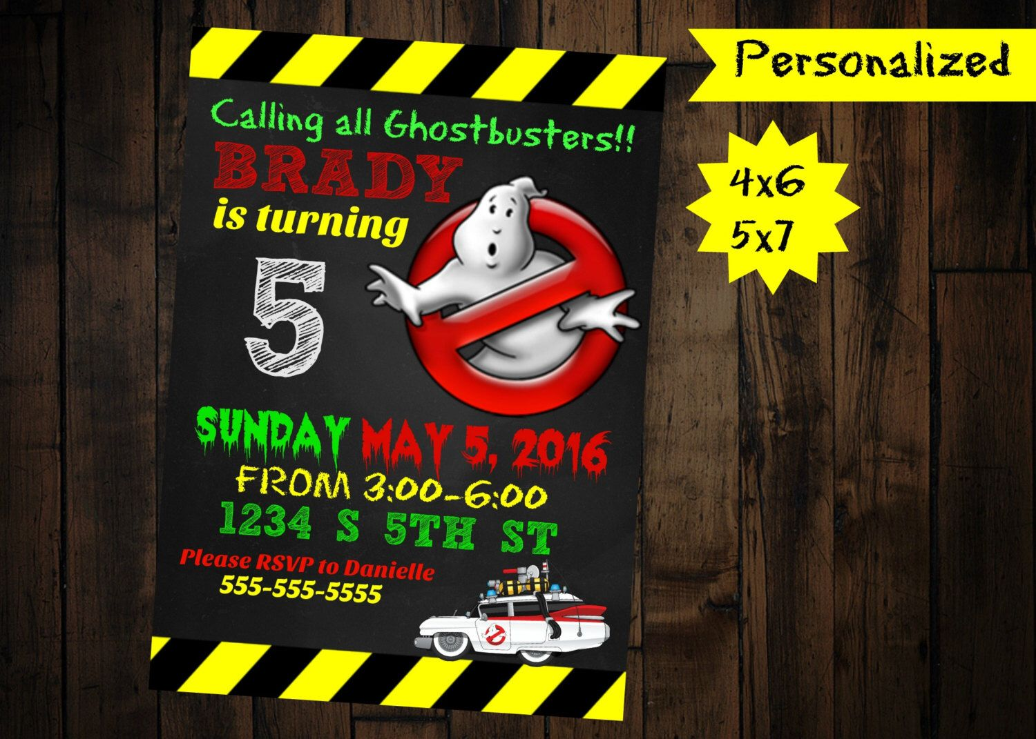 Ghostbusters Birthday Invitations | Ghostbusters Invitation Printable Digital Ghostbusters
