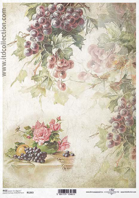 Papel De Arroz Para Decoupage Decopatch Scrapbook Craft Hoja Vintage Orange Rosas