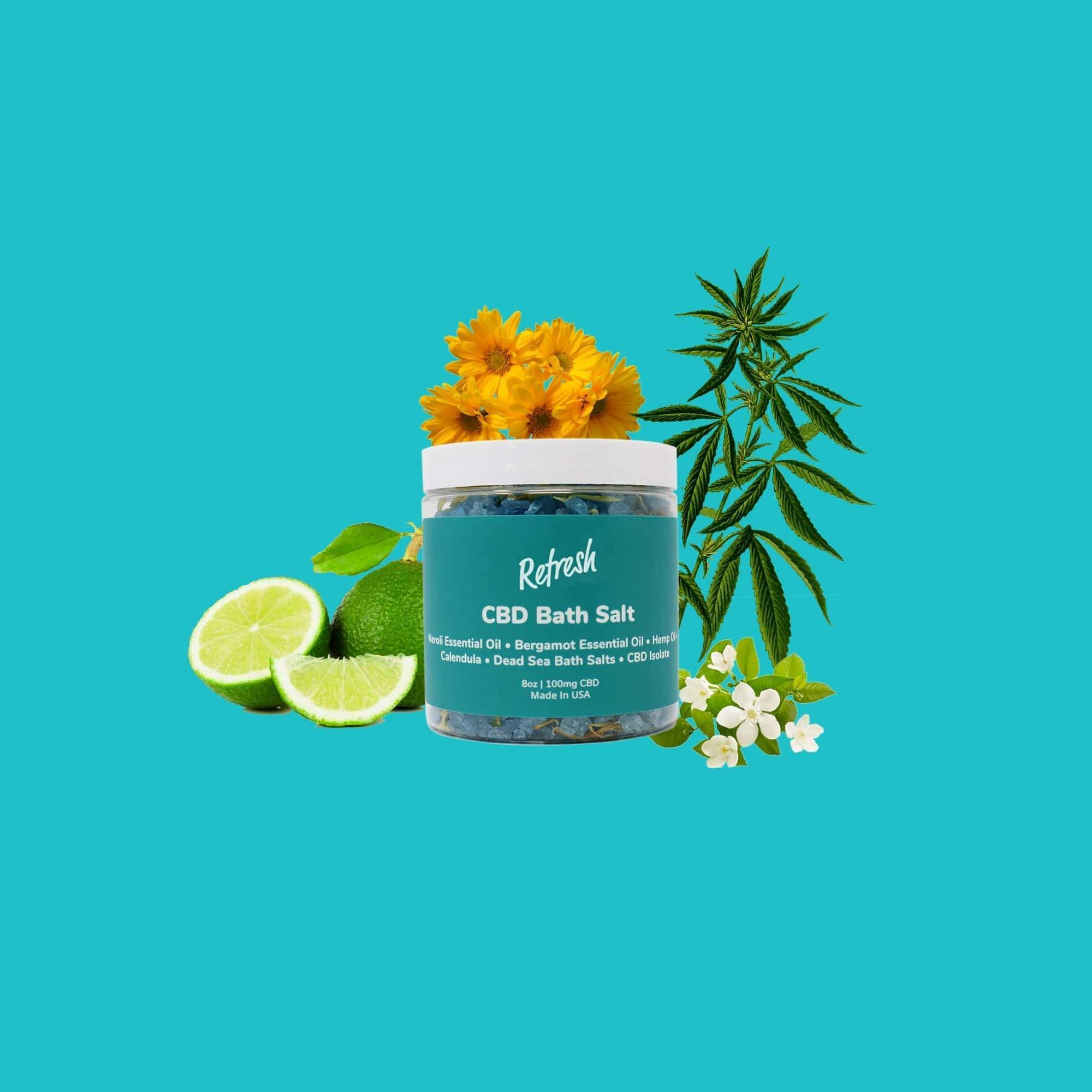 Detox, cleanse, purify, rejuvenate body + soul with premium hemp CBD Dead Sea Salts for wellness self-care routines.  Refresh luxurious CBD bath salts are ideally suited for rejuvenation, detoxification, cleanse and relief. . #cbdbath #bathroutines #selfindulgence #bathwellness #routineandrituals #cbd #dailywellness #wellness #selfcarefirst #refresh #recharge #unwind #refreshcbd #relax #clam #womenshealth #menshealth #relaxingbath #bubblebath #dailycbd #cbdbath  #bathsoak #healthwellness