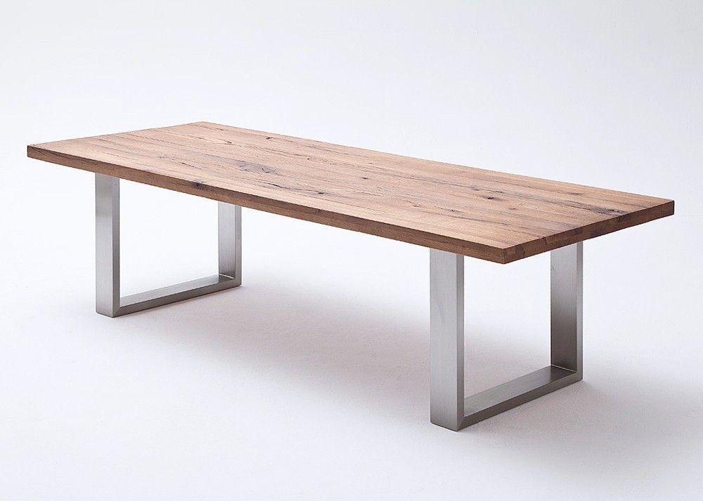 Esstisch Eiche Castello Esszimmertisch Holz Bassano Größe wählbar - küchenarbeitsplatten online kaufen