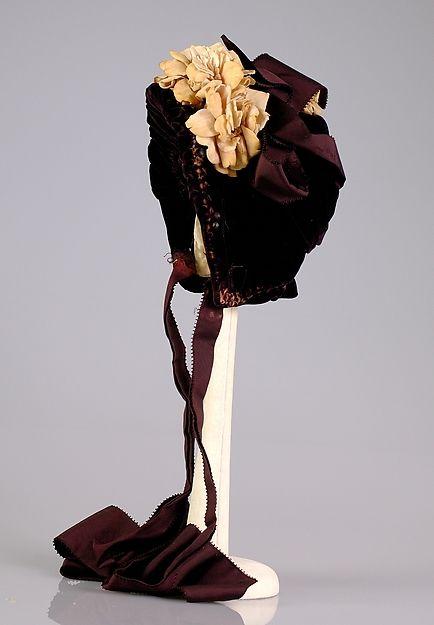 Bonnet, Mme. Mantel, c. 1880.