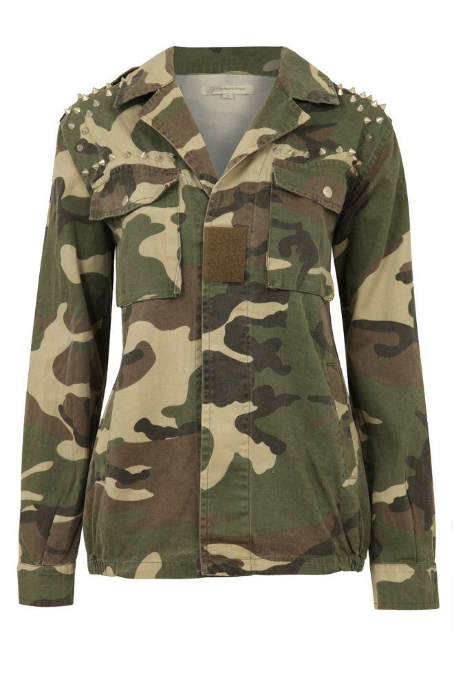 Studded Camoflage Jacket