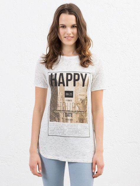 T-shirt mélange con stampa  #MotiviFashion su http://www.motivi.com/it/shop-online/abbigliamento-donna/t-shirt/t-shirt-melange-stampata.html