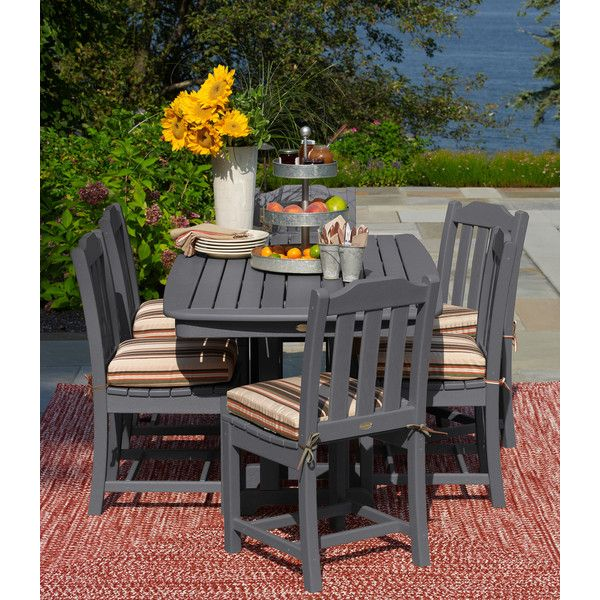 L Bean All Weather Dining Table 72 X 37 1 135 Cad Liked On Polyvore Featuring Home Outdoors Patio Furniture Outdoor Tables Garden