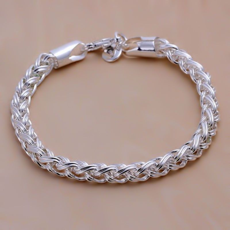 66b263621caf Купить Браслет серебряный с плетением - браслет женский, женский браслет,  серебряный, серебро 925 пробы