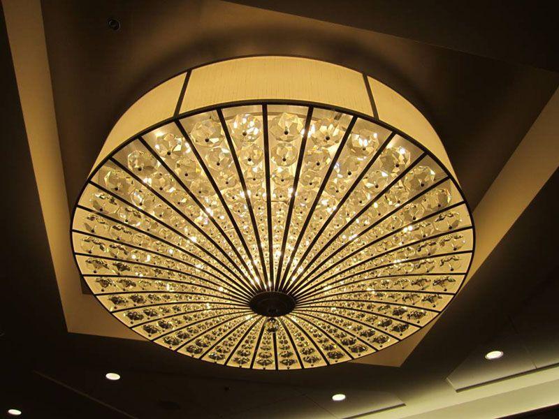 Ballroom lighting custom made crystals in various sizes made in la custom made