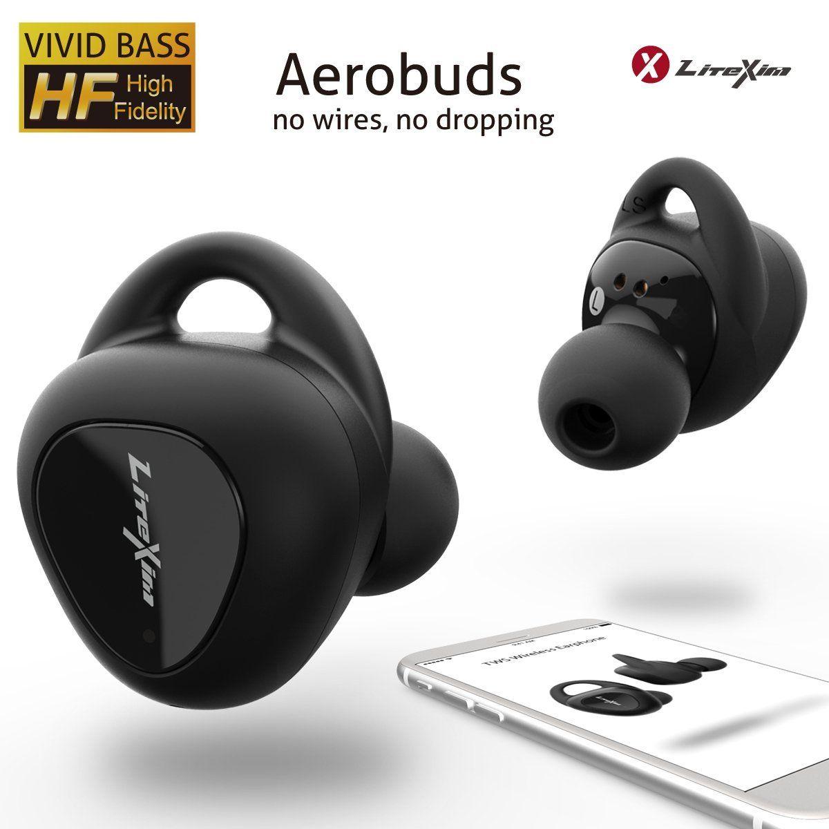 Amazon Com Wireless Earbuds Litexim Aerobuds True Wireless Earbuds Bluetooth Earbuds With Mic Noise Cancell Noise Cancelling Earbuds Earbuds Wireless Earbuds