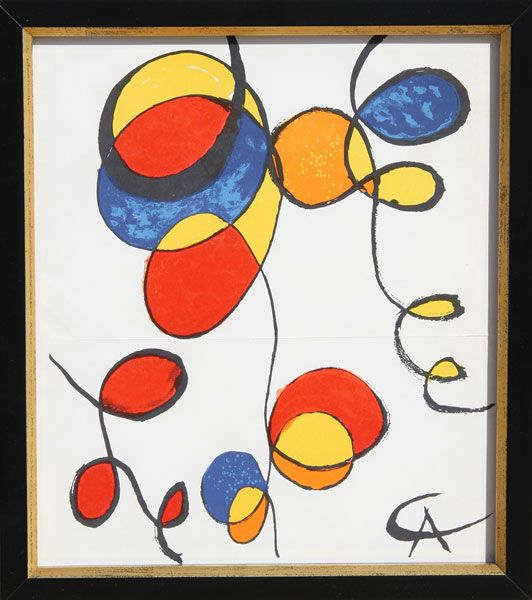 SPIRAL signed in the plate Lithograph BY ALEXANDER CALDER original