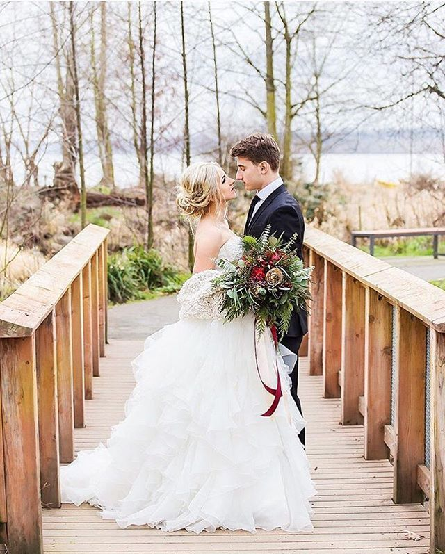 Do It Yourself Wedding Gown Preservation: David's Bridal Bride Dasha In A Strapless Ballgown Style