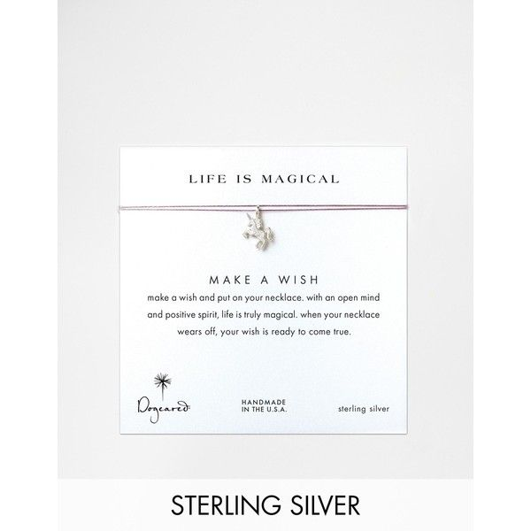 Dogeared Sterling Silver Life Is Magical Silver Unicorn Make A Wish... (£28) ❤ liked on Polyvore featuring jewelry, necklaces, silver, dogeared jewelry, unicorn necklace, unicorn pendant necklace, silver pendant and sterling silver pendant necklace