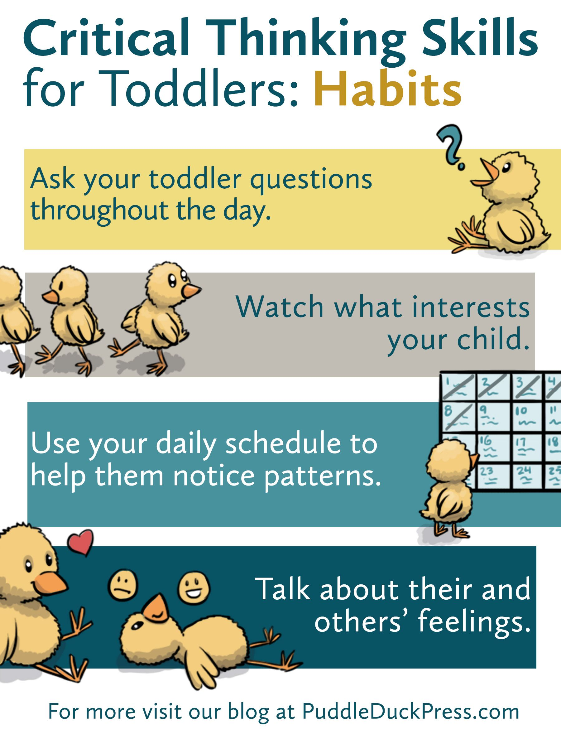Critical Thinking Skills For Toddlers Habits Graphic 2