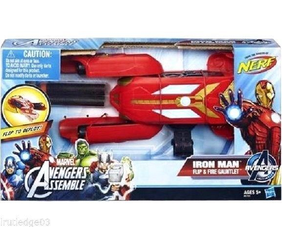 Marvel Avengers Nerf Iron Man Flip & Fire Gauntlet Fun Age 5 A6760