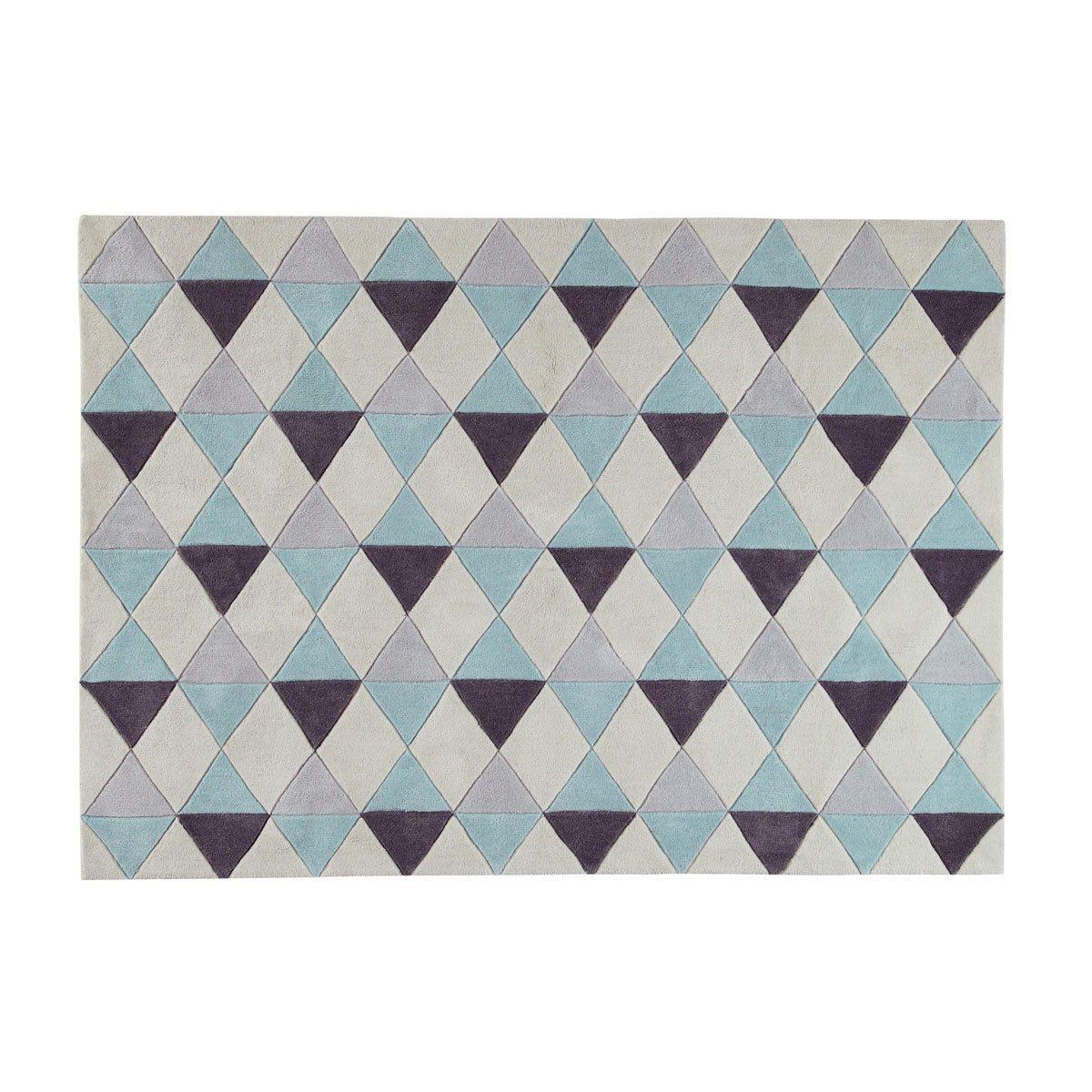 Tapis à poils courts bleu motifs graphiques 140x200 | Room baby ...