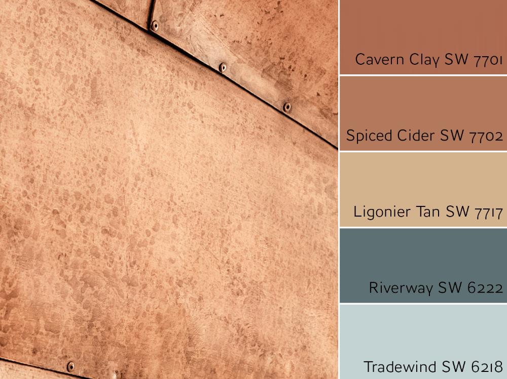 Cavern Clay Color Review Rust Color Schemes Bedroom Colour Palette Copper Paint Colors
