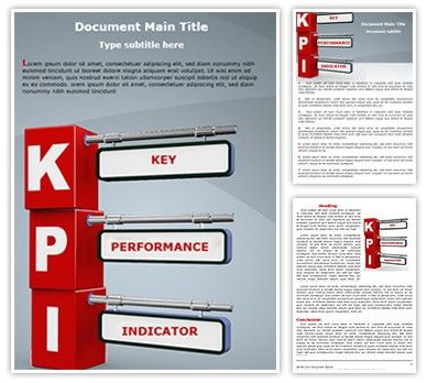 Download editabletemplatesu0027s cost-effective #KPI #Microsoft - microsoft word template report