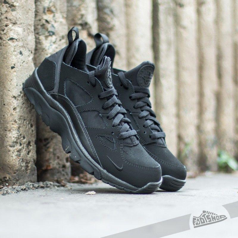 Nike Air Trainer Huarache Low Black Black - Footshop  a8375d672