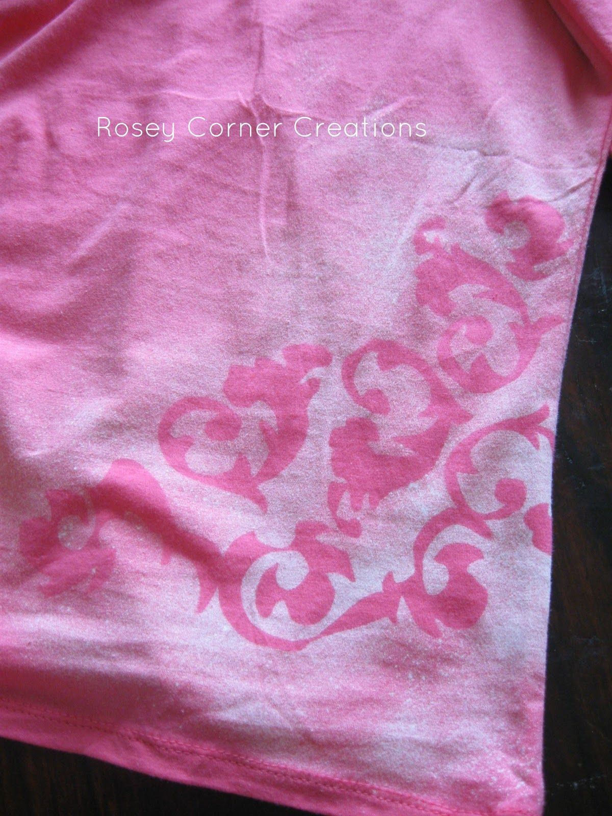 How To Bleach A Design On A T Shirt Craft Ideas Pinterest