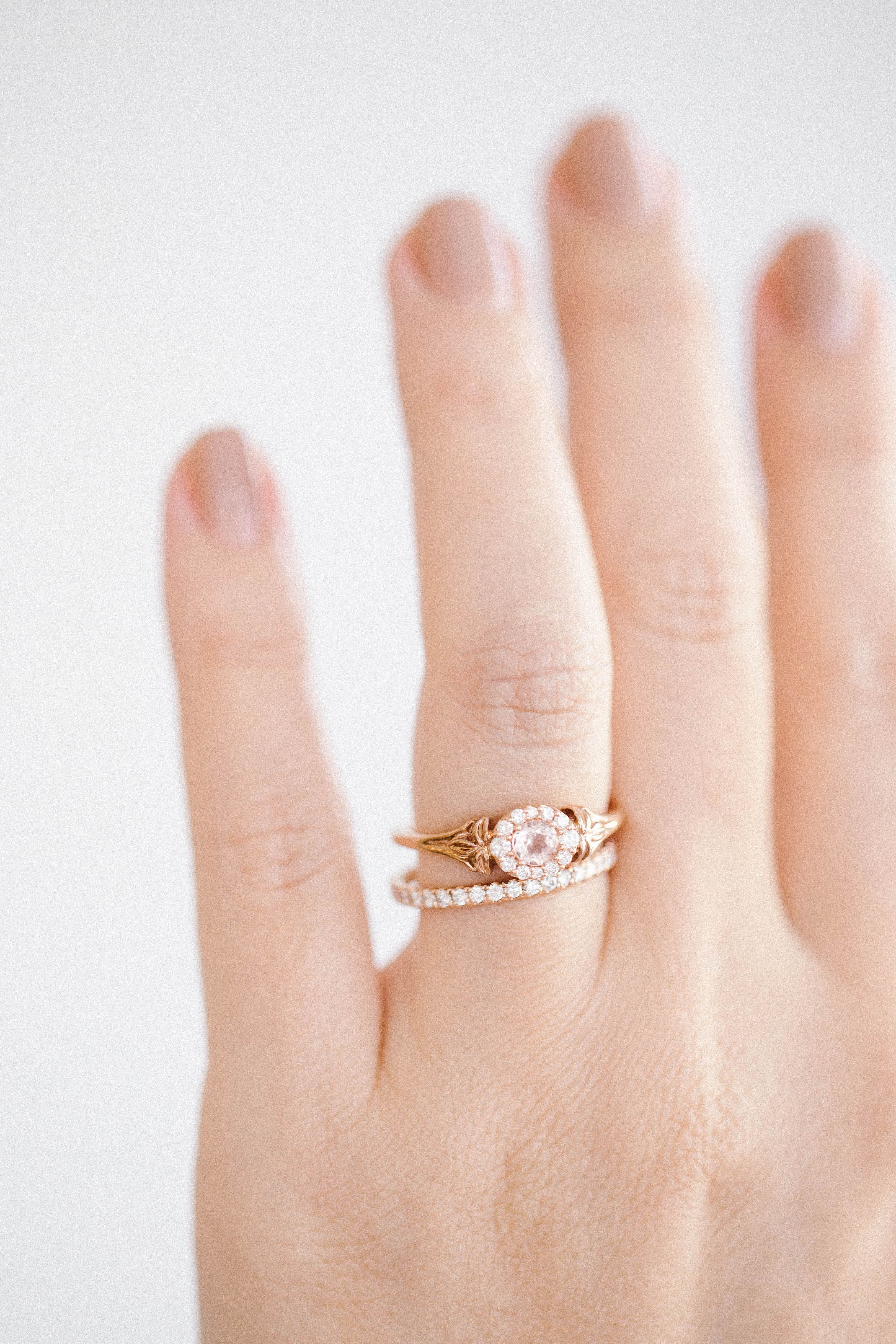 Lc Lauren Conrad 10k Rose Gold Morganite & Diamond Flower Ring  Available  At Kohl's