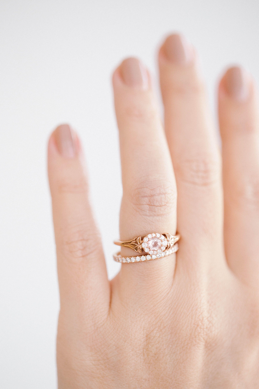 22ad829f9 LC Lauren Conrad 10k Rose Gold Morganite & Diamond Flower Ring | Available  at Kohl's