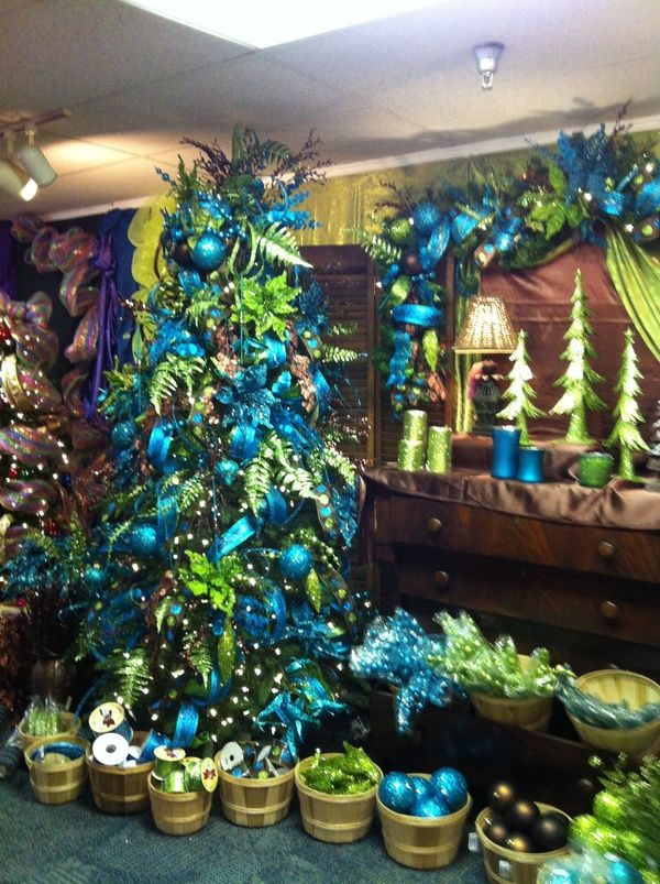 Peacock colorslove it! Oh Christmas Tree Pinterest Peacock - peacock christmas decorations