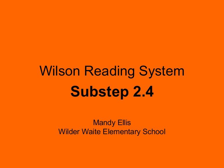 wilson reading system lesson plan