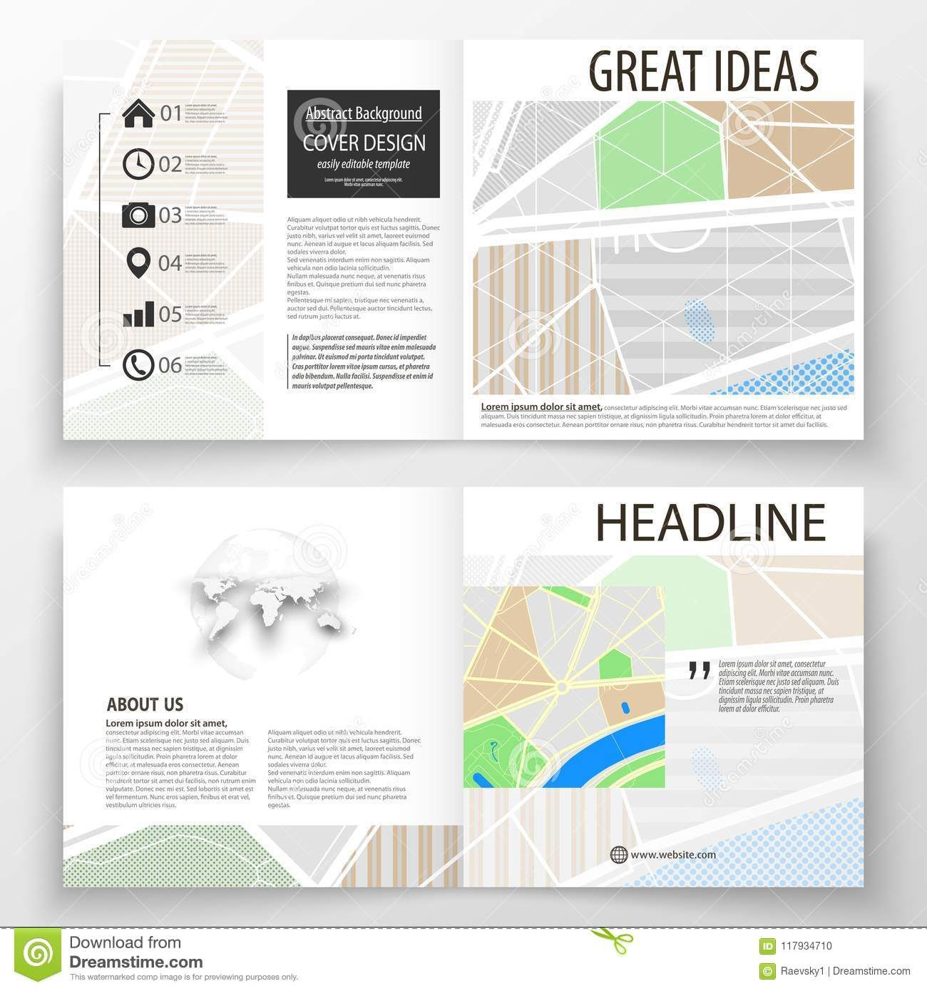 Business Templates For Square Bi Fold Brochure Magazine For Blank City Map Template Great Cretive Templates Business Template Bi Fold Brochure Brochure