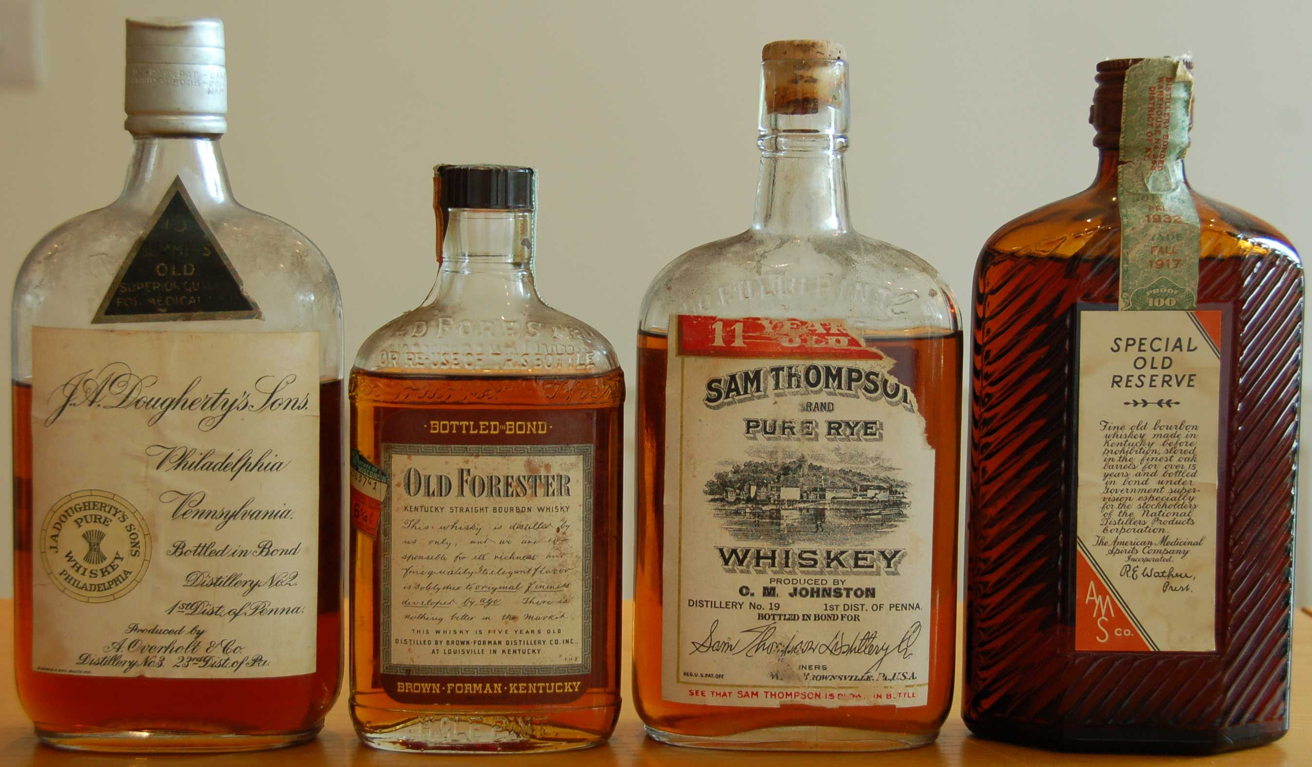 Old Overholt Rye Whiskey Early Bottled In Bond Ad