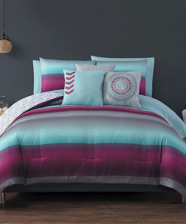 Magenta 10 Piece Cyprus Comforter Set, Magenta Bedding Sets