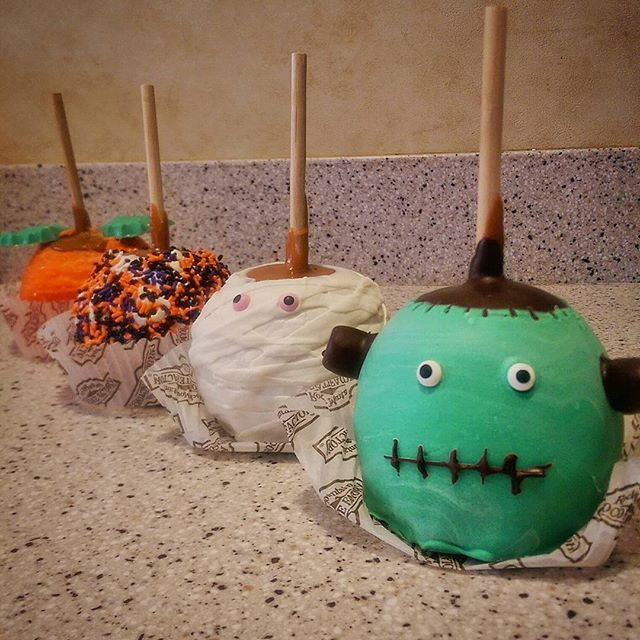Rocky Road Chocolate Factory Candy Apples