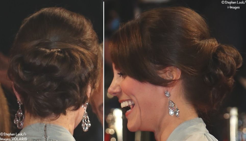 Kate opted for a Jenny Packham gown for this evening's glamorous, glittering premiere of the new James Bond film, SPECTRE.