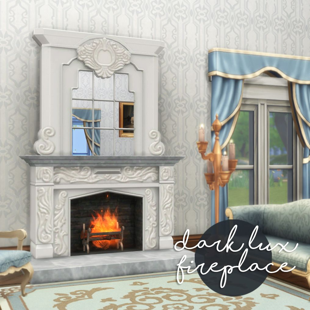 TS4: DARK LUX FIREPLACE (sims 3 to sims 4 conversion) info: requires ...