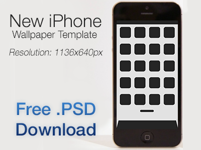 Iphone 5 Wallpaper Template Free Psd