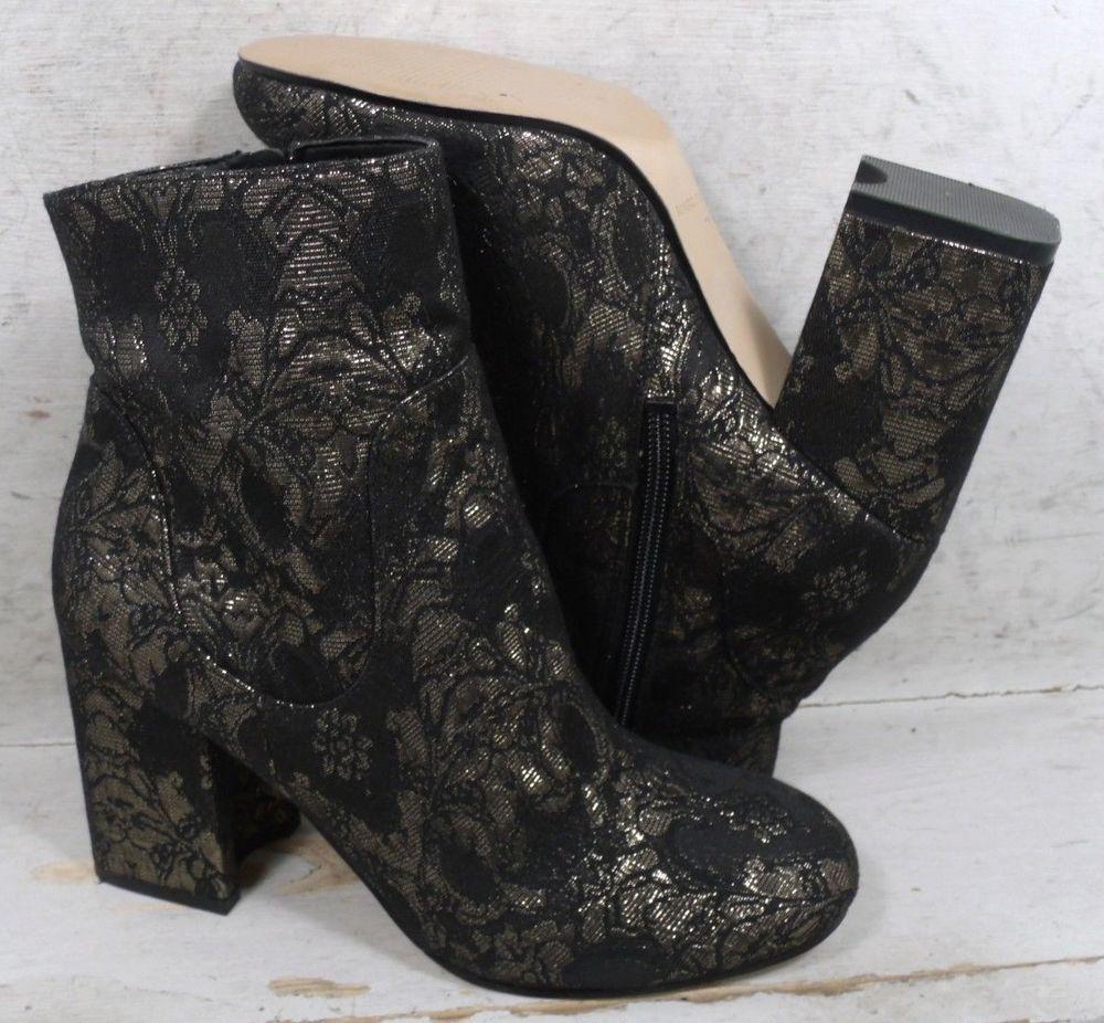 newest 6f618 9eb8d Marc Fisher Womens Jana Black Multi Fabric Fashion Ankle ...