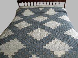 Cravitz Chain Bed Quilt - Amish Hand Quilting | Quilting ... : amish quilts designs - Adamdwight.com