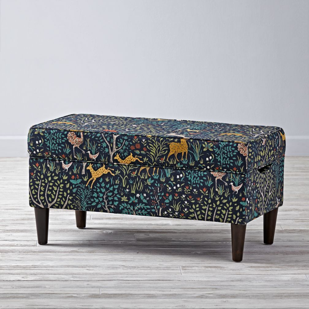 Upholstered Storage Bench Folkland Admiral Consoles Tables