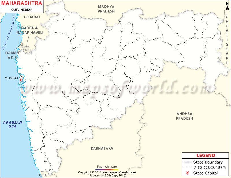maharashtra map outline hd
