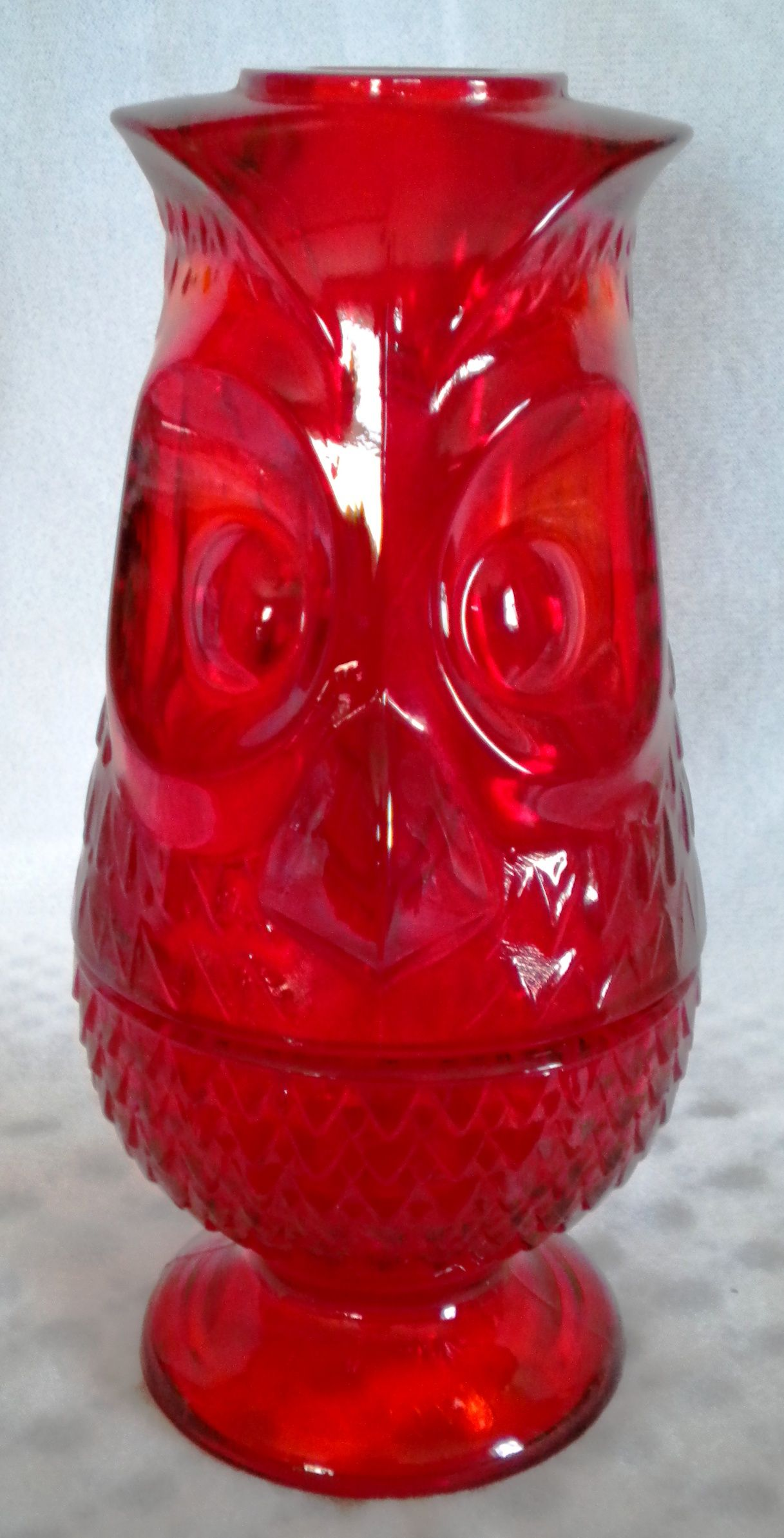 Viking Glass Ruby Red Owl Fairy Lamp Viking Glass Fairy Lamp Colored Glassware