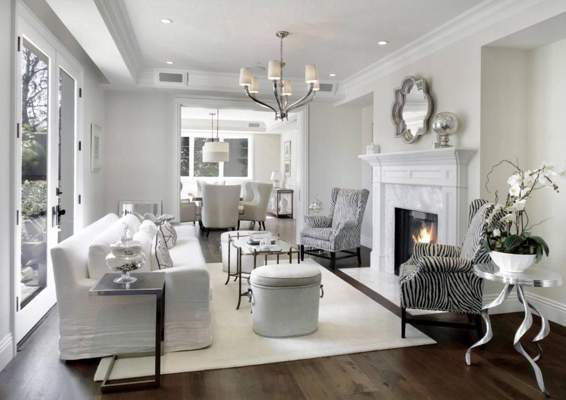 Best All White Living Room Decor With Slipcovered Sofa And 400 x 300